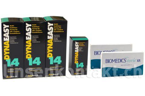 Biomedics Toric XR von Cooper Vision & Dynaeasy 14,