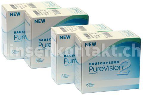 pure vision 2 hd 4 x 6 st ck kontaktlinsen von bausch. Black Bedroom Furniture Sets. Home Design Ideas