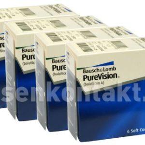 Pure Vision, 4 x 6 Stück Kontaktlinsen von Bausch & Lomb