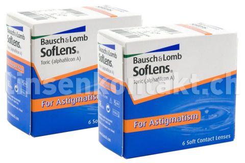 SofLens 66 Toric, 2 x 6 Stück Kontaktlinsen von Bausch & Lomb