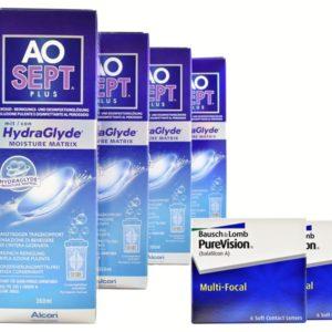 Halbjahres-Sparpaket, Pure Vision Multifocal Kontaktlinsen von