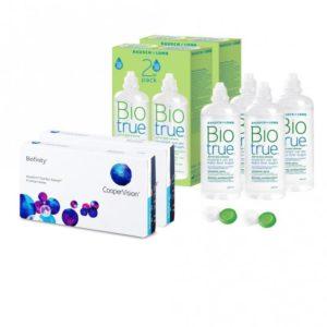 Sparset: Biofinity - 6 und Biotrue All-in-one Lösung