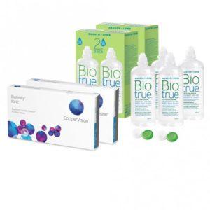 Sparset: Biofinity Toric - 6 und Biotrue All-in-one Lösung