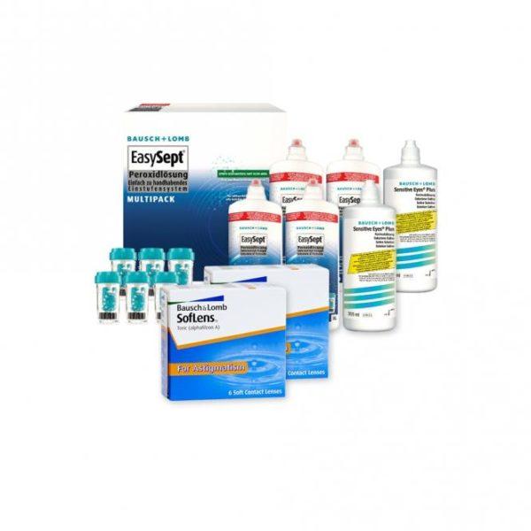 Bundle rebate: SofLens for Astigmatism - 6 and EasySept Hydro+ Peroxid Solution