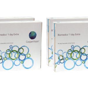 Biomedics 1 day Extra 2x180 Tageslinsen Sparpaket 6 Měsíce